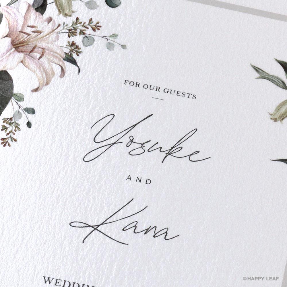 結婚式 招待状 grisvert ホワイト 2