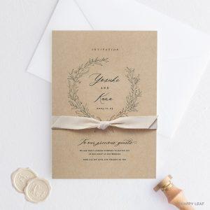 結婚式 招待状 cotone リボン