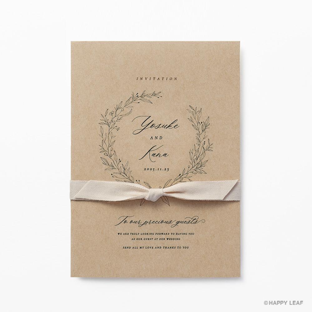 結婚式 招待状 cotone リボン 2