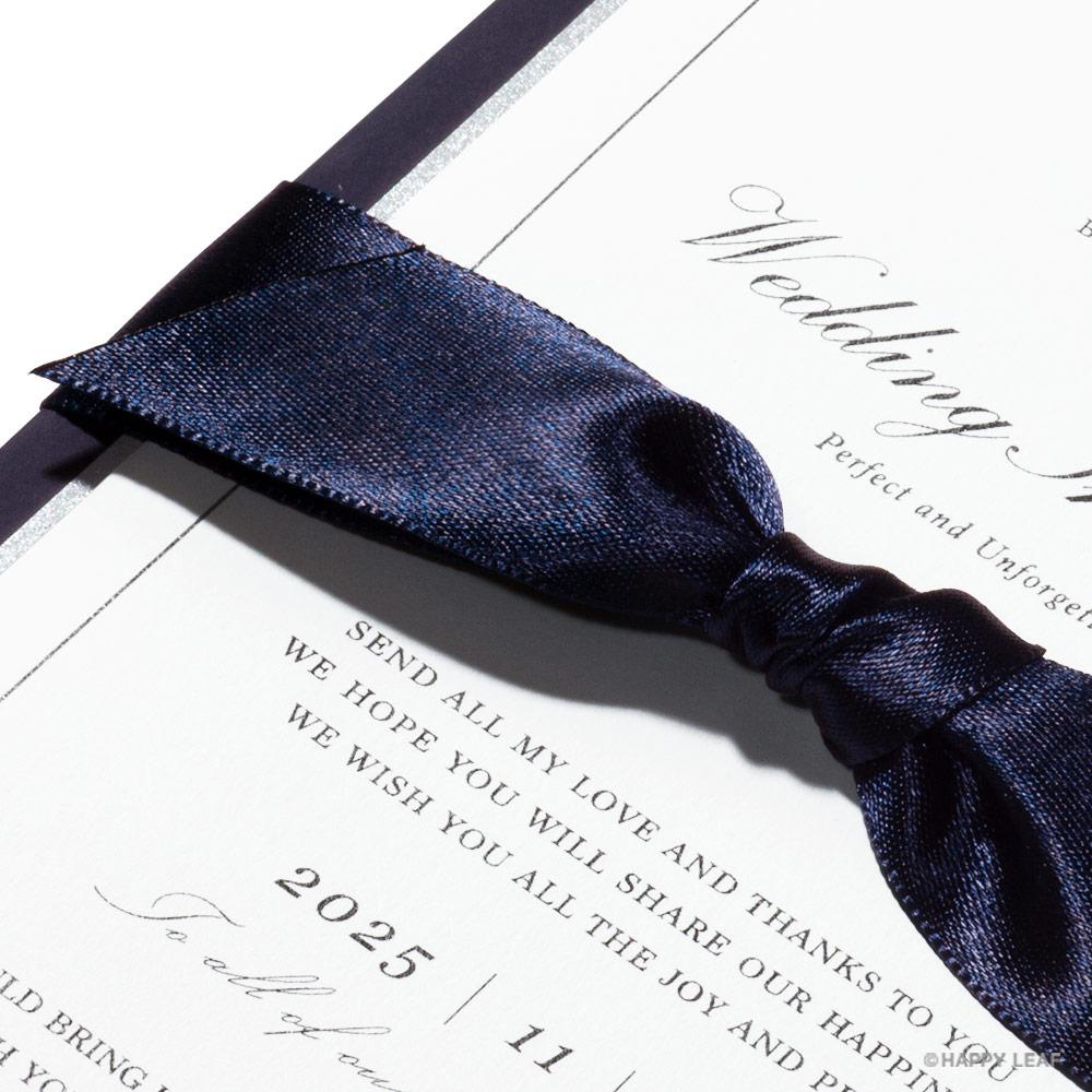 結婚式 招待状 Manoir ネイビー 2