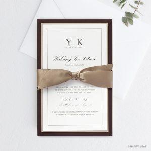 結婚式 招待状 Manoir ブラウン