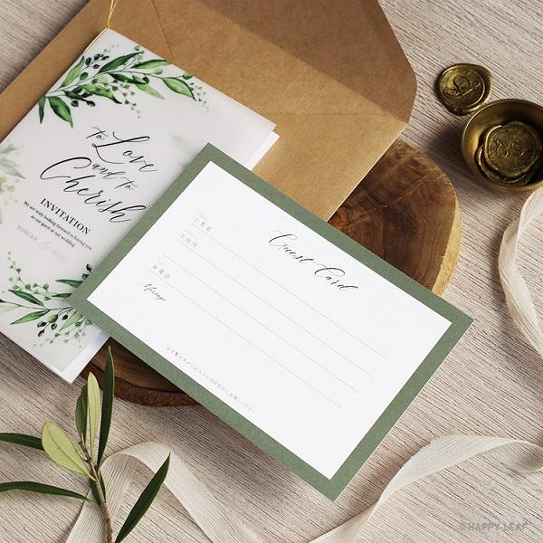 DIY専門店 and CRAFT by HAPPYLEAF から 新作ゲストカード4点リリース!結婚式の受付がスムーズになるオシャレアイテム◎
