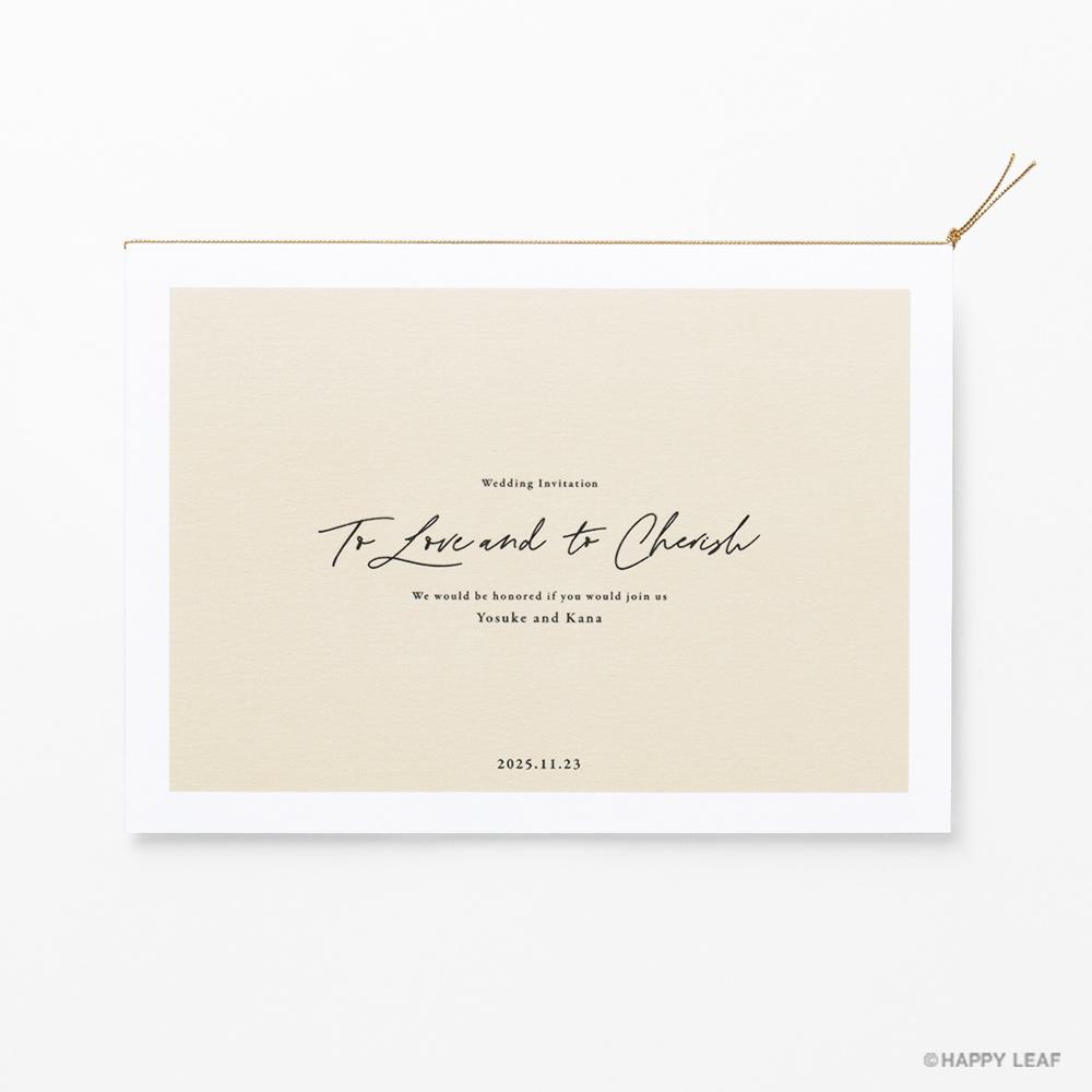 結婚式 招待状 nino アイボリー フレーム 2