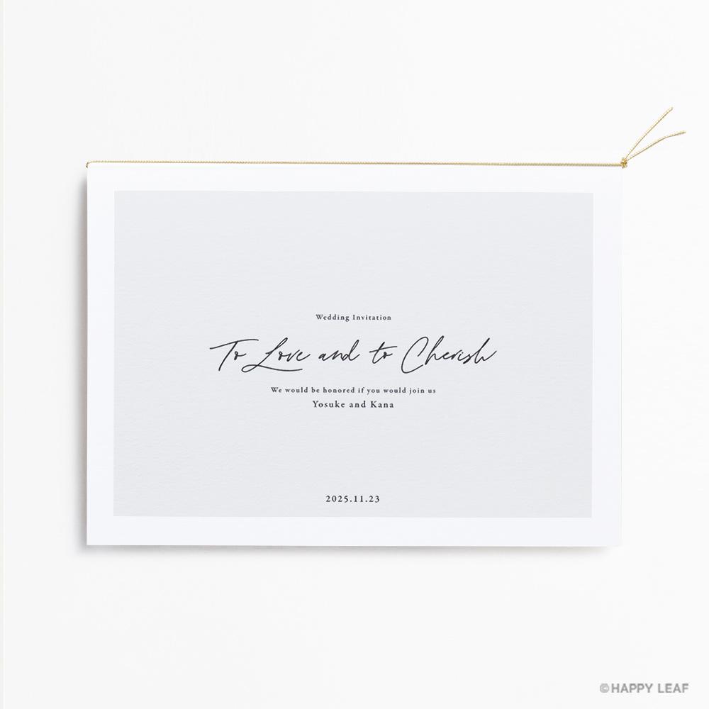 結婚式 招待状 nino グレー フレーム 2
