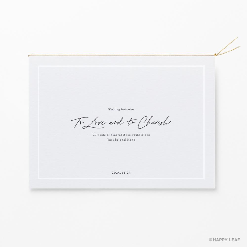 結婚式 招待状 nino グレー ライン 2
