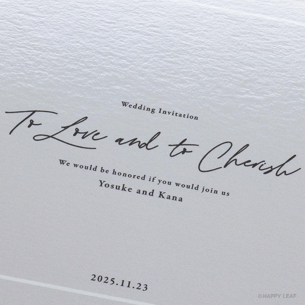 結婚式 招待状 nino グレー ライン 3