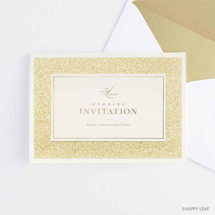 結婚式 招待状 STELLA ゴールド