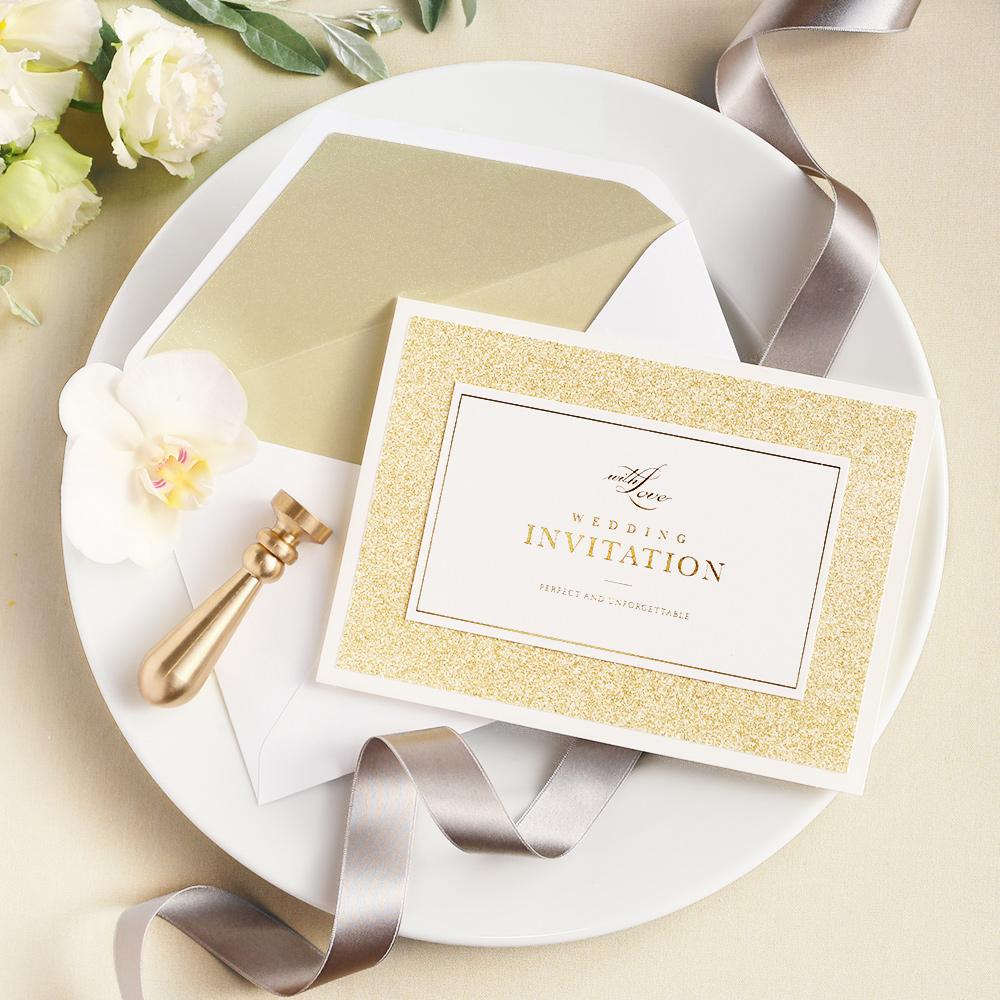 結婚式 招待状 STELLA ゴールド 1