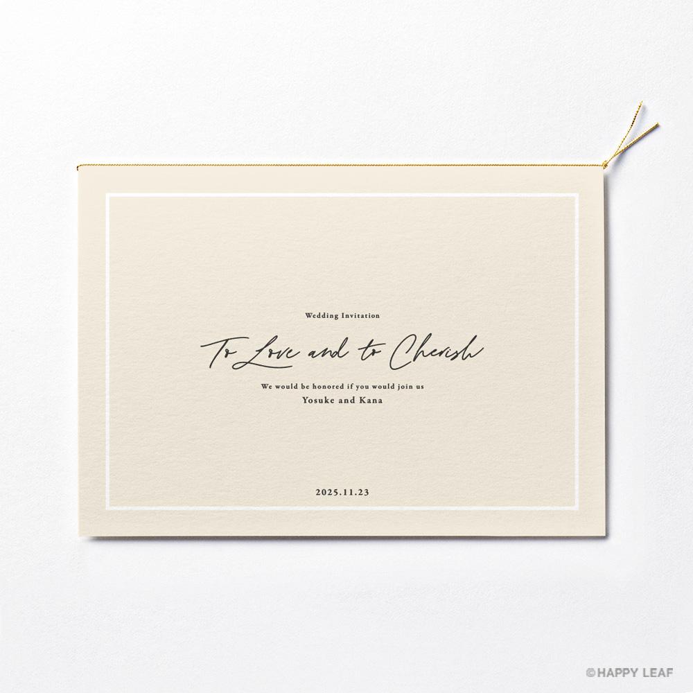 結婚式 招待状 nino アイボリー ライン 2