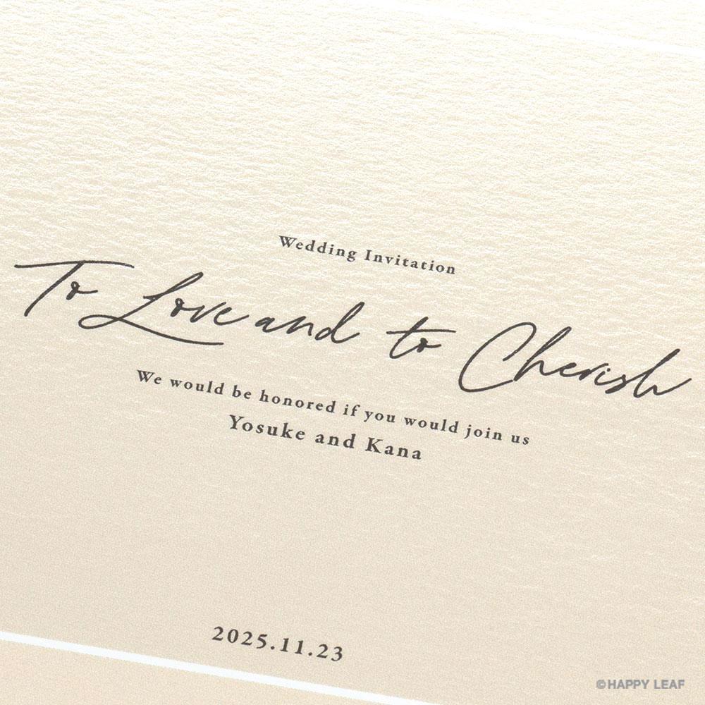 結婚式 招待状 nino アイボリー ライン 3