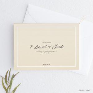 結婚式 招待状 nino アイボリー ライン