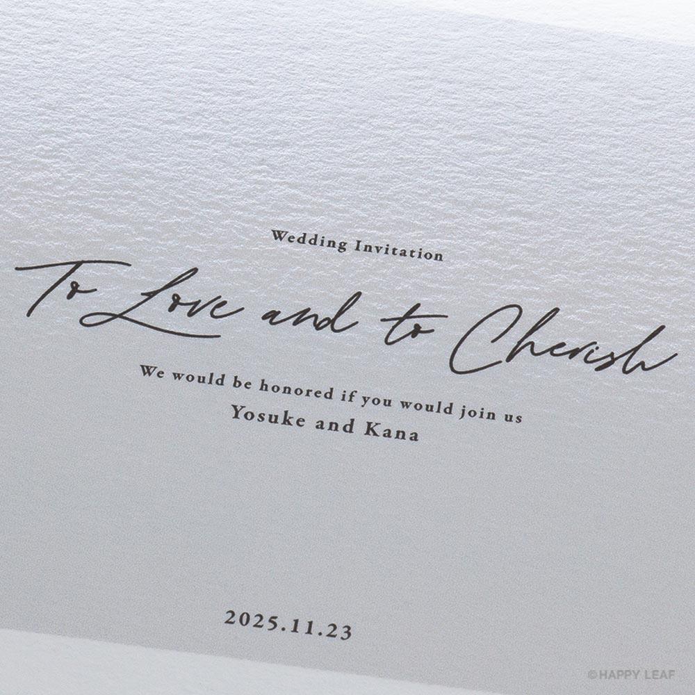 結婚式 招待状 nino グレー フレーム 3