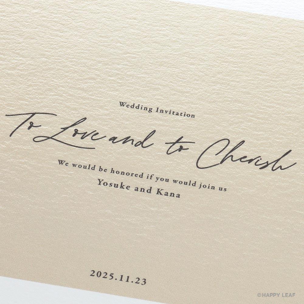 結婚式 招待状 nino アイボリー フレーム 3