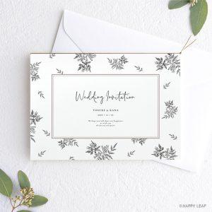 結婚式 招待状 Fleurette mono