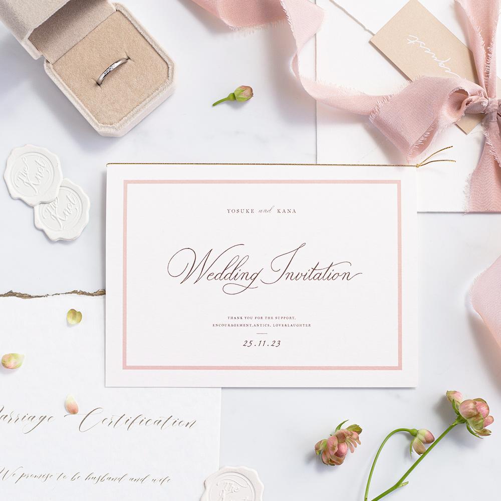 結婚式 招待状 aimer ホワイト 1