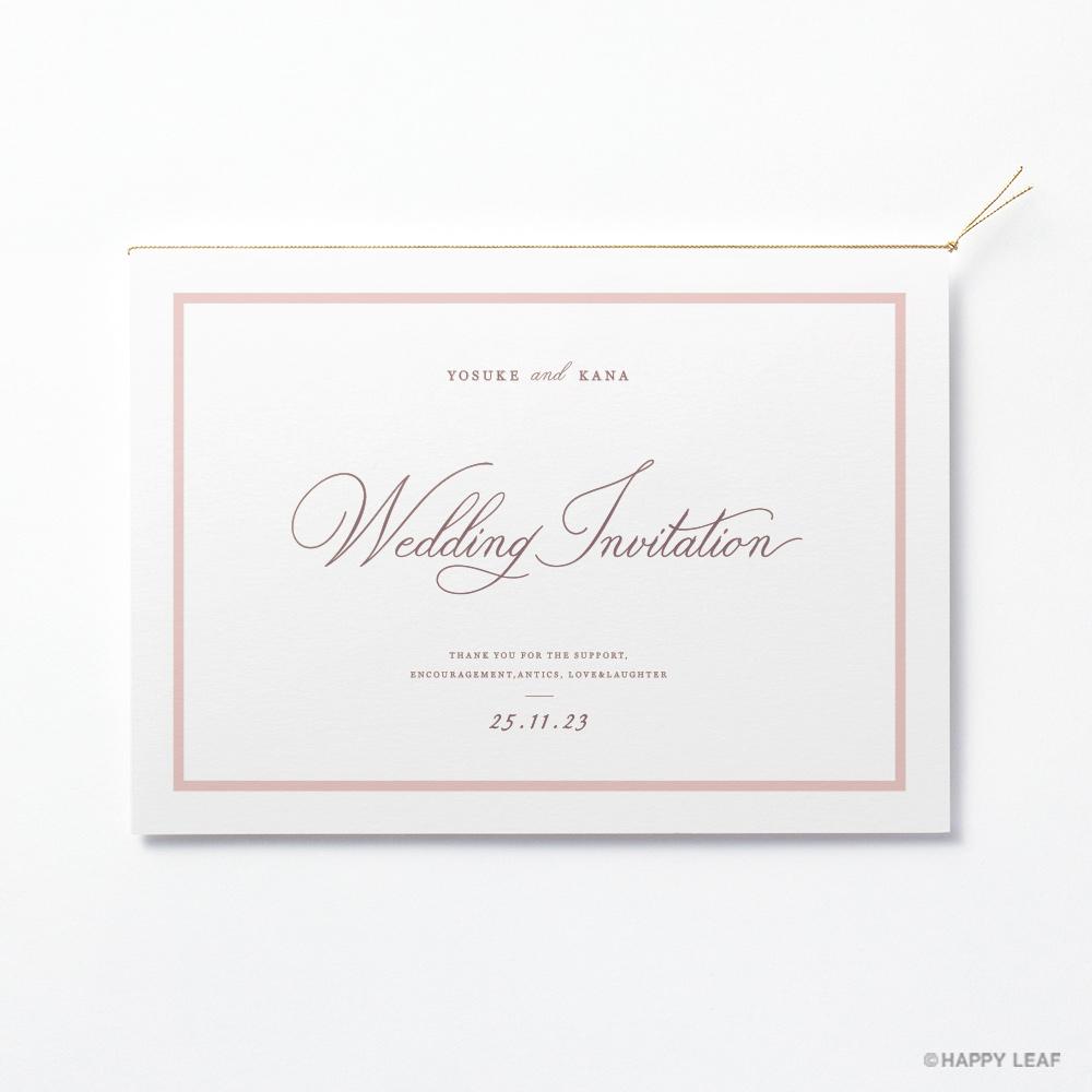 結婚式 招待状 aimer ホワイト 2