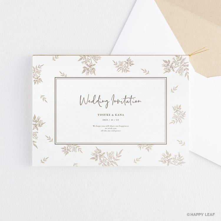 結婚式 招待状 Fleurette sepia