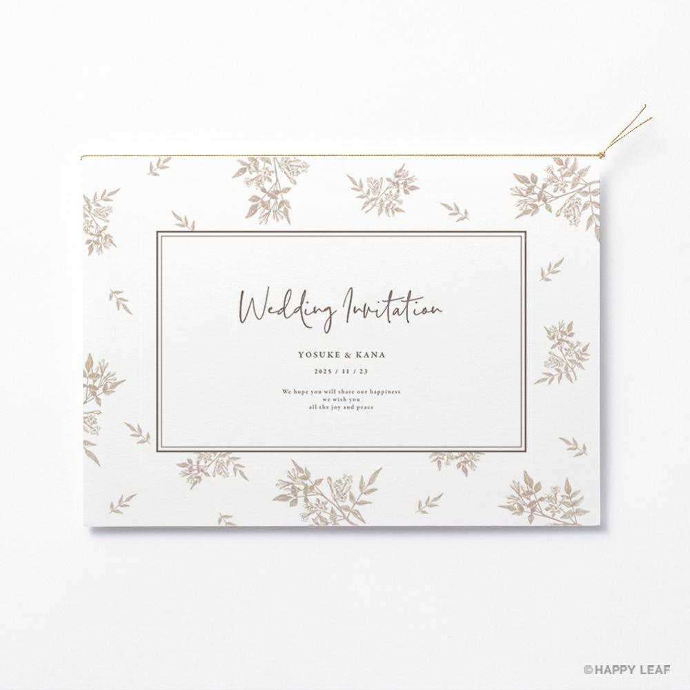結婚式 招待状 Fleurette sepia 2