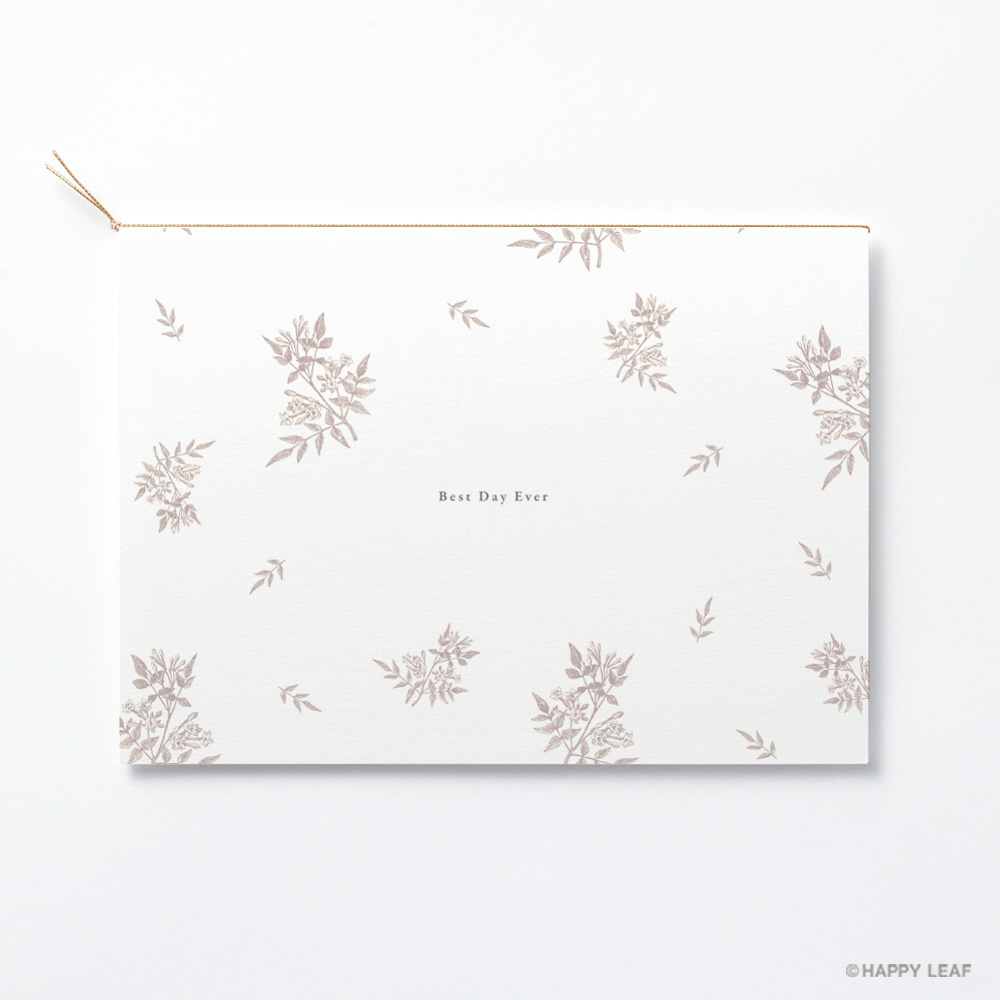 結婚式 招待状 Fleurette sepia 4
