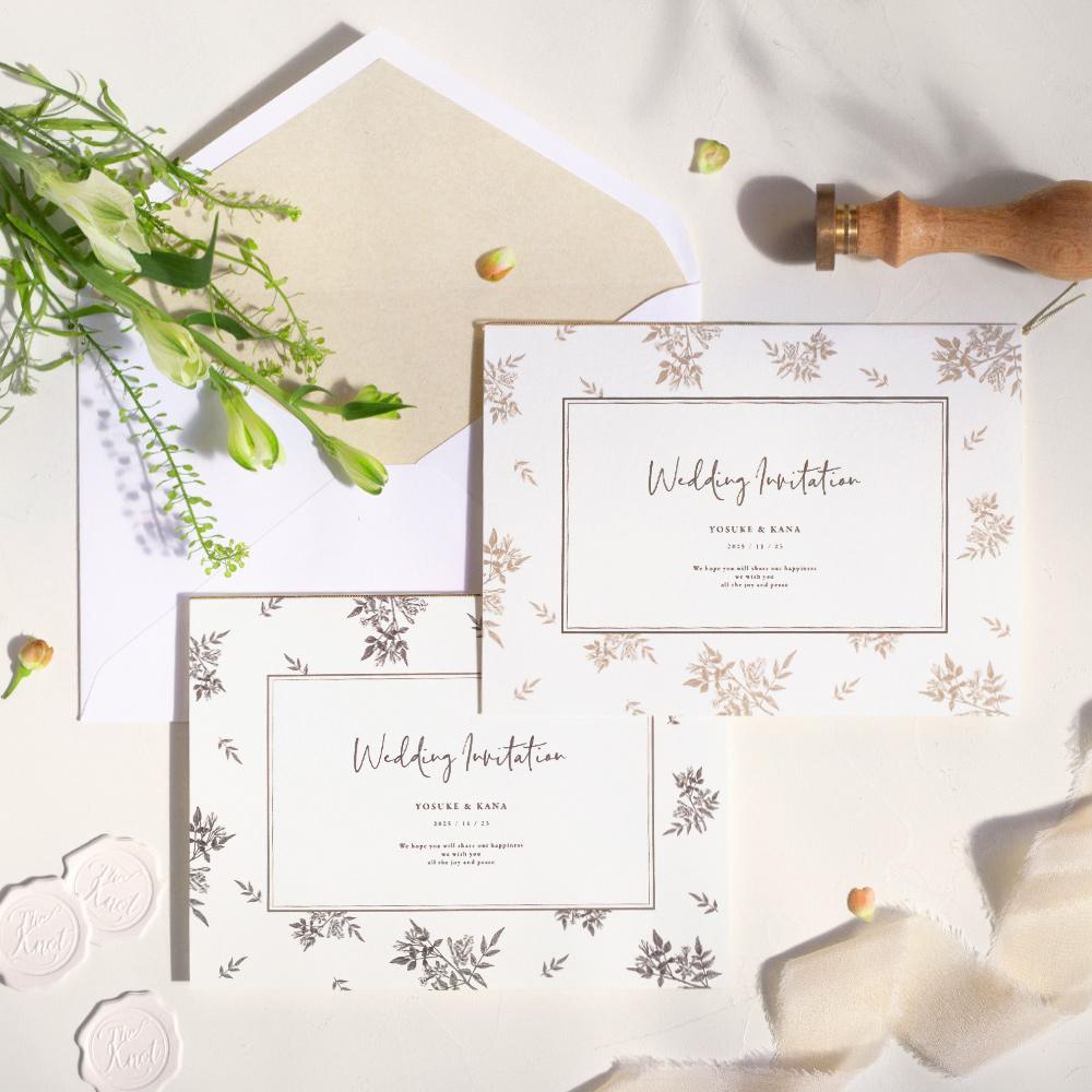 結婚式 招待状 Fleurette sepia 1