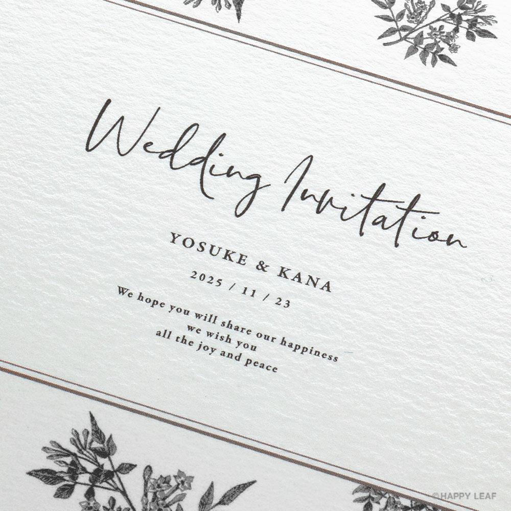 結婚式 招待状 Fleurette mono 3
