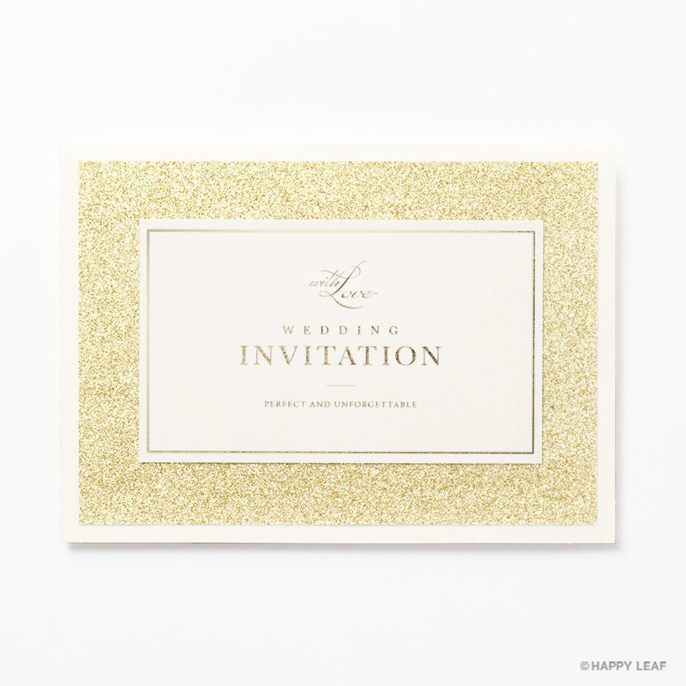 結婚式 招待状 STELLA ゴールド 2