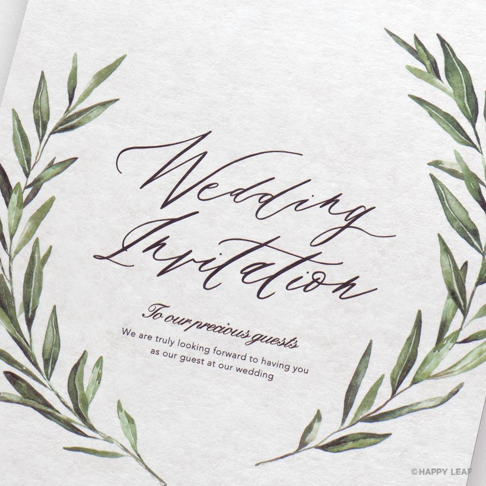 結婚式 招待状 foglia 3