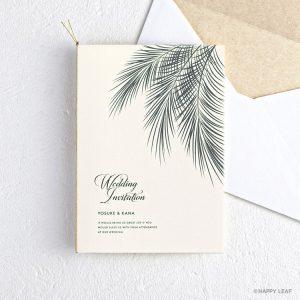 結婚式 招待状 Palm アイボリー