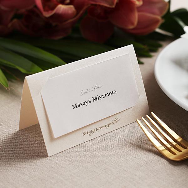 ゲストに感謝が伝わる結婚式の席札メッセージとは 書き方のコツと例文