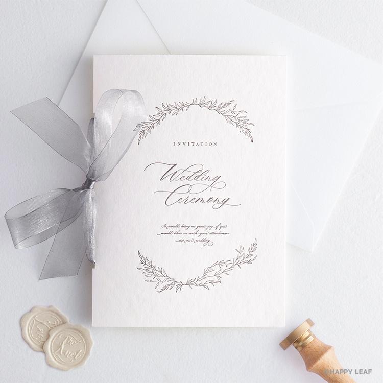 結婚式 招待状 charme グレー