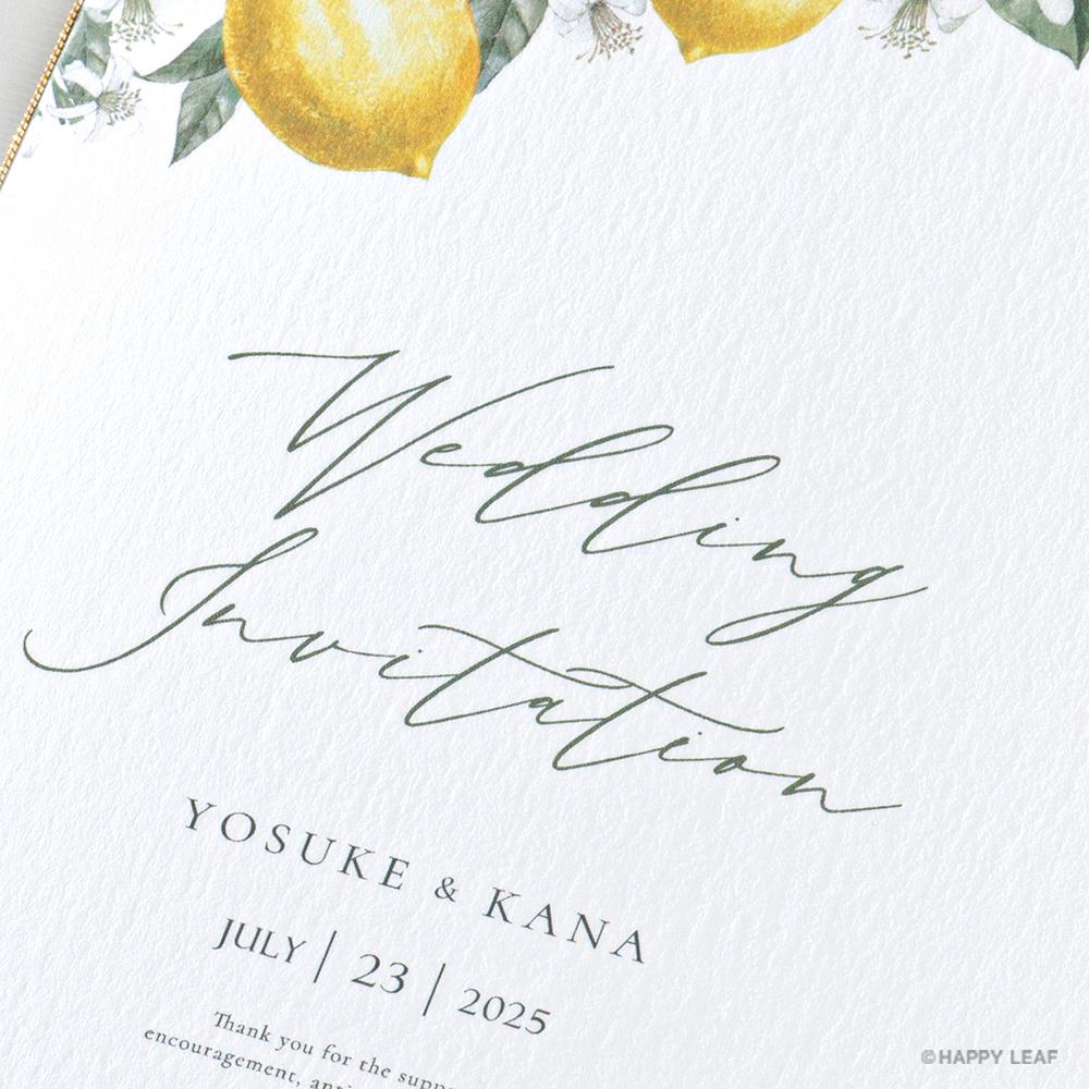 結婚式 招待状 リモーネ 3