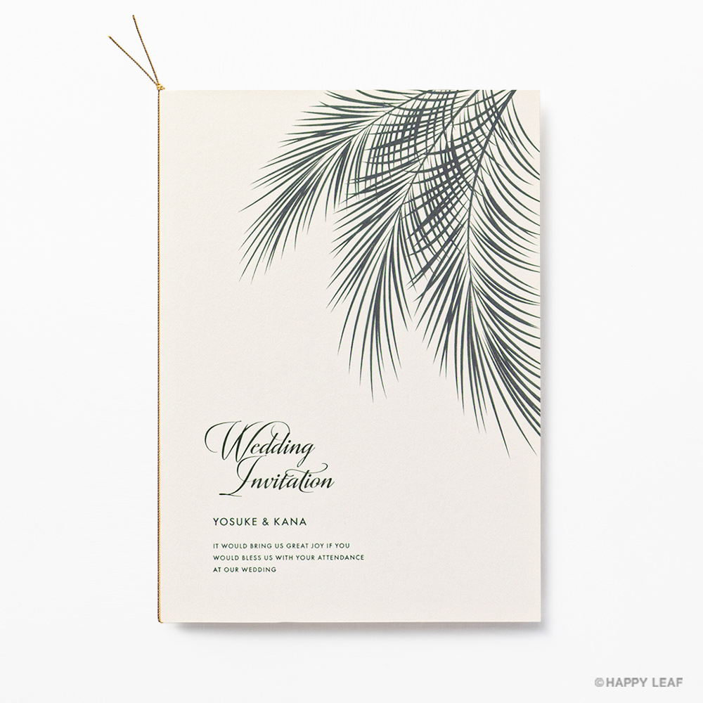 結婚式 招待状 Palm アイボリー 2