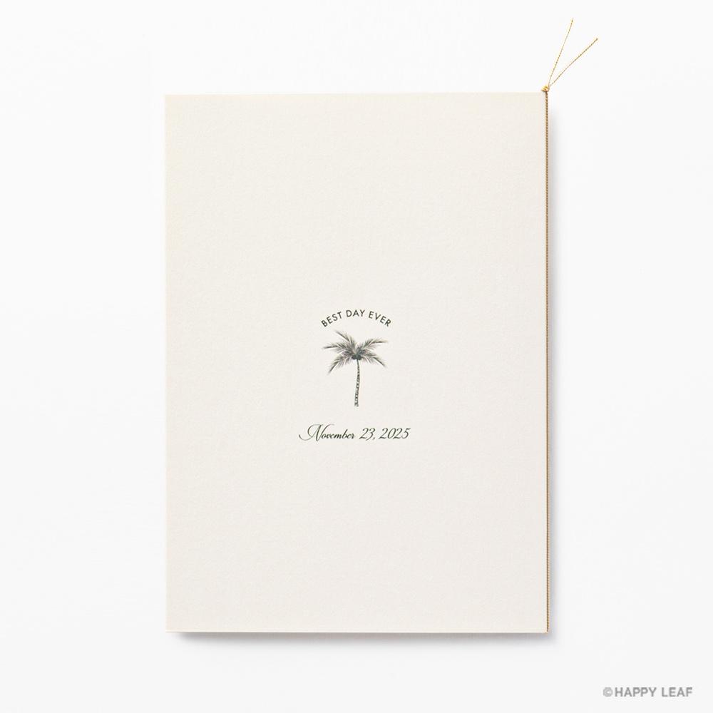 結婚式 招待状 Palm アイボリー 4