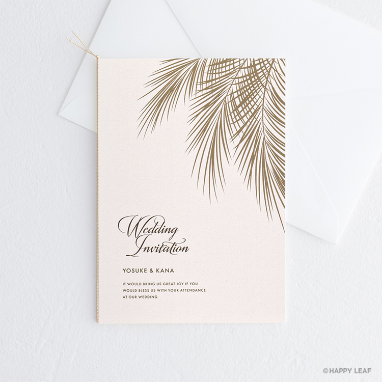 結婚式 招待状 Palm コーラル