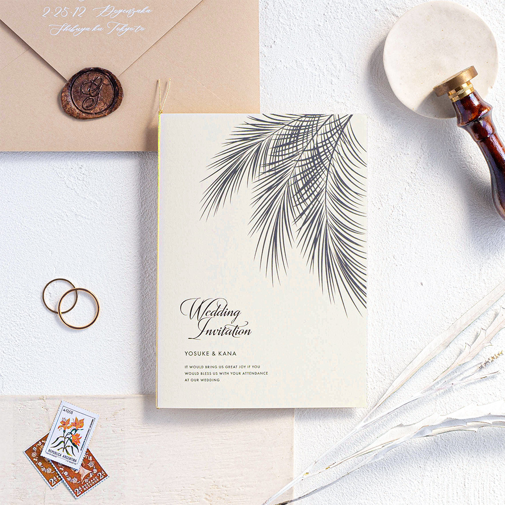 結婚式 招待状 Palm アイボリー 1