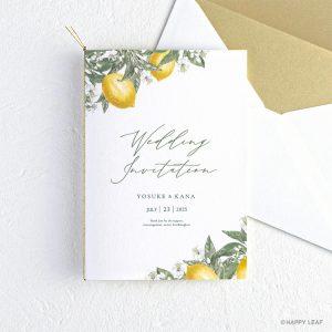 結婚式 招待状 リモーネ