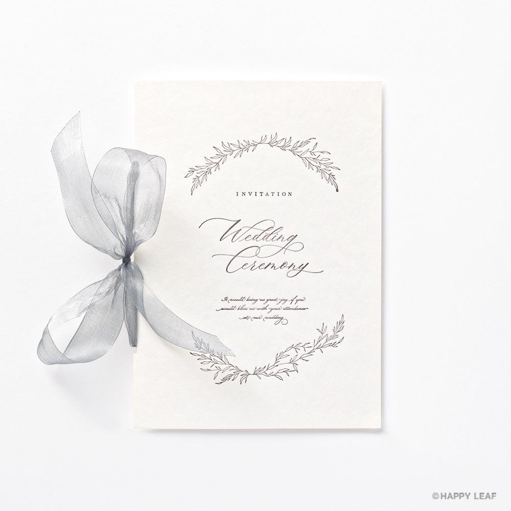 結婚式 招待状 charme グレー 2
