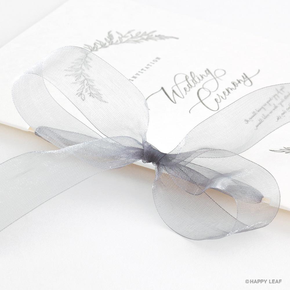 結婚式 招待状 charme グレー 4
