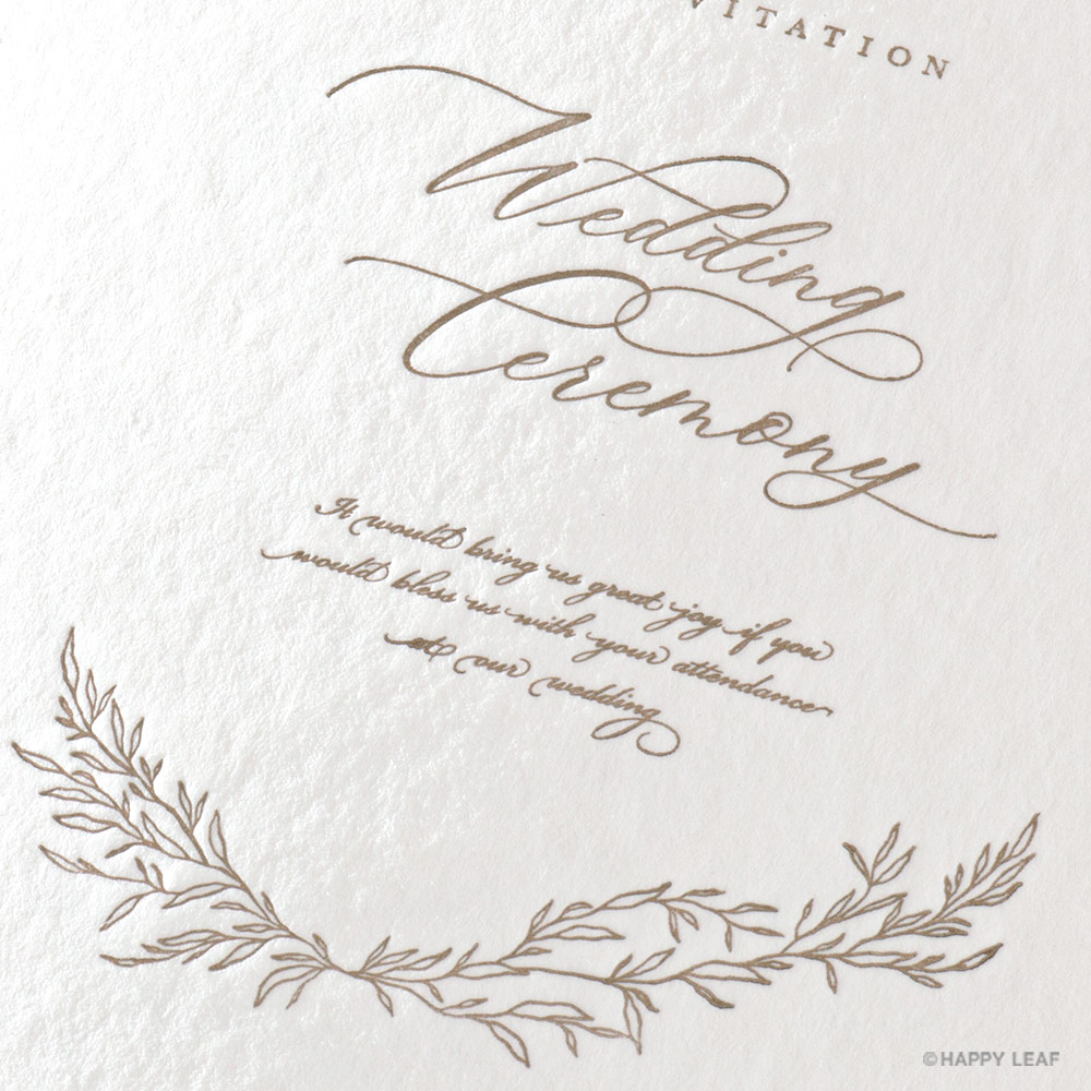結婚式 招待状 charme ベージュ 2