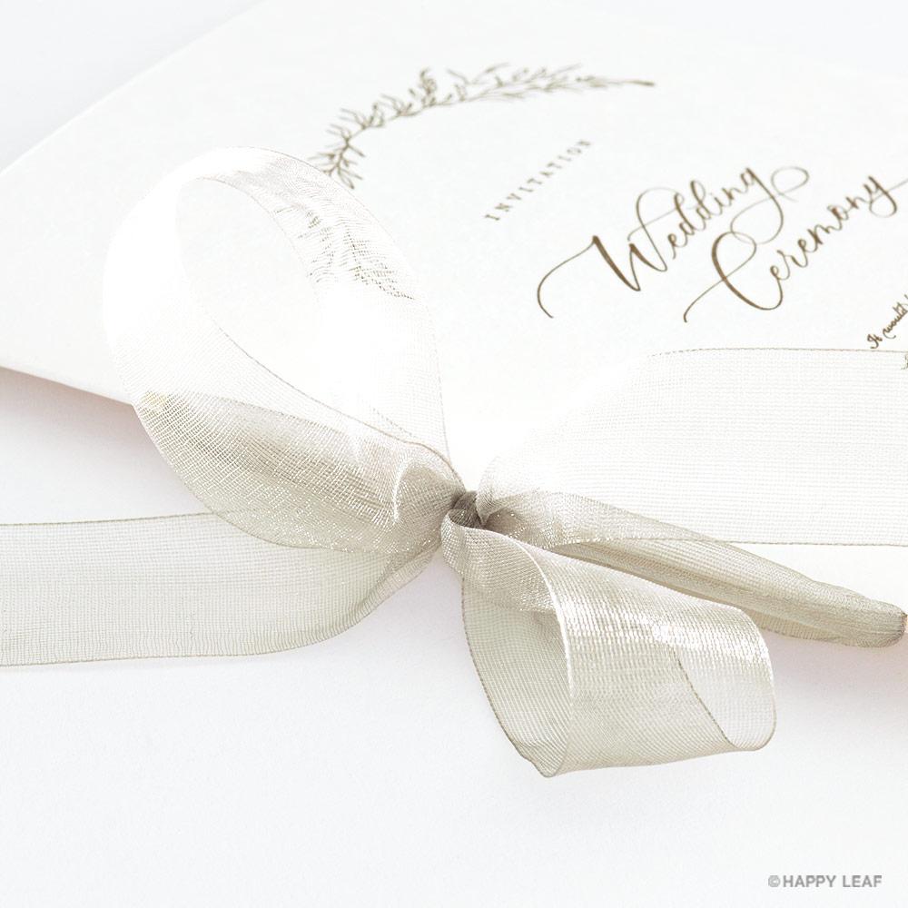 結婚式 招待状 charme ベージュ 3