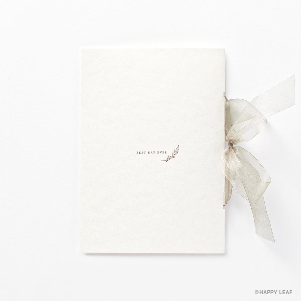 結婚式 招待状 charme ベージュ 4