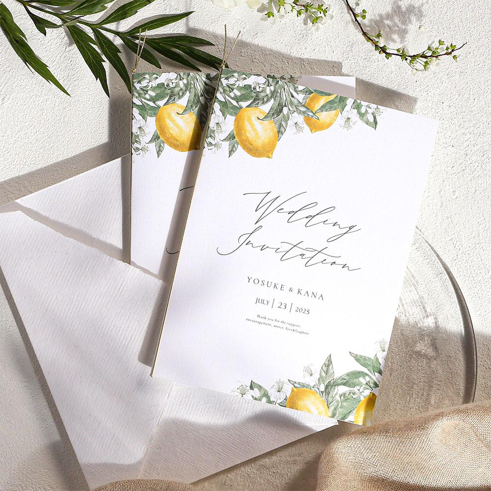結婚式 招待状 リモーネ 1