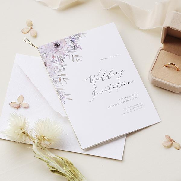 結婚式で使いたい!幸せな「花言葉」をもつお花をモチーフにした招待状デザイン14選