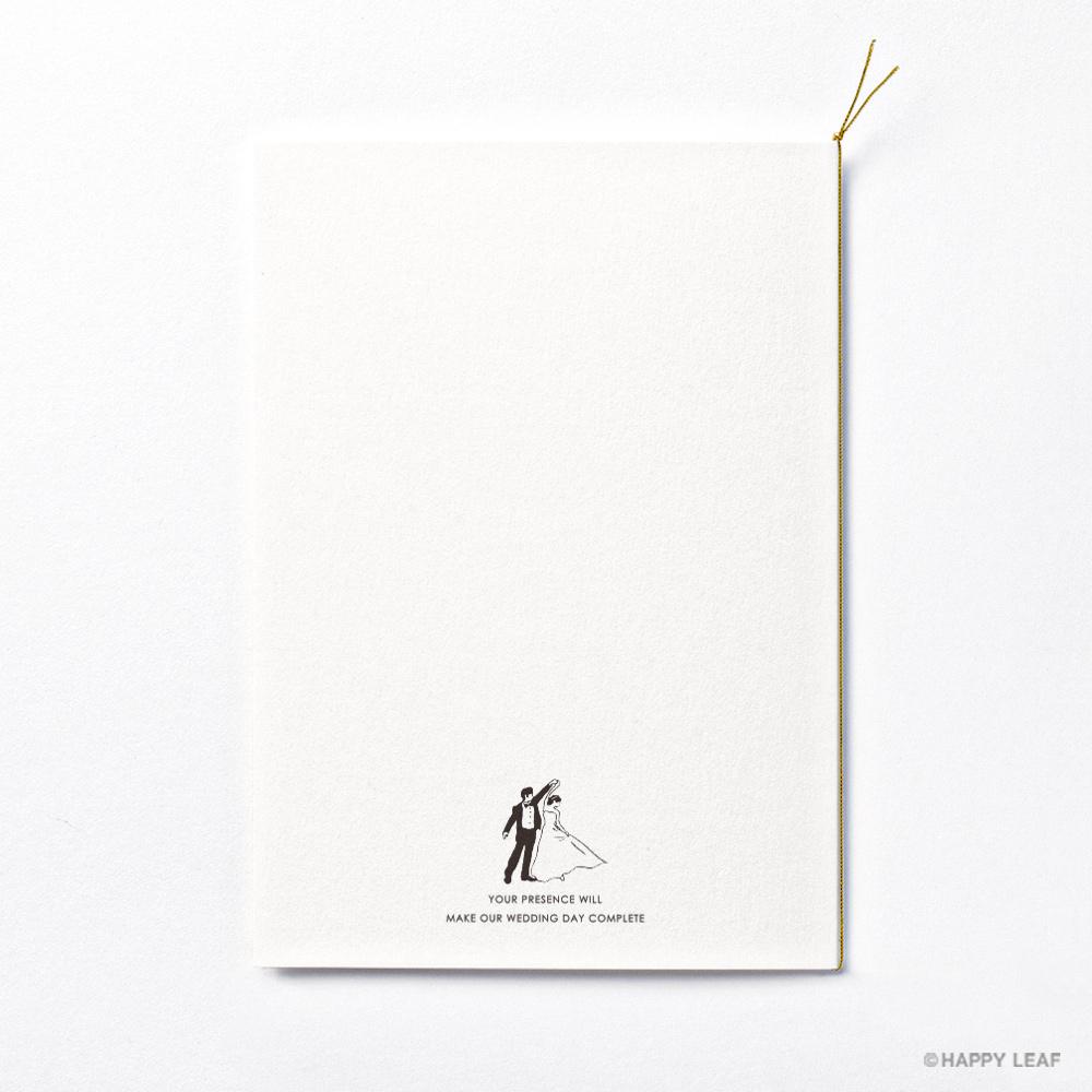 結婚式 招待状 brio ホワイト 4