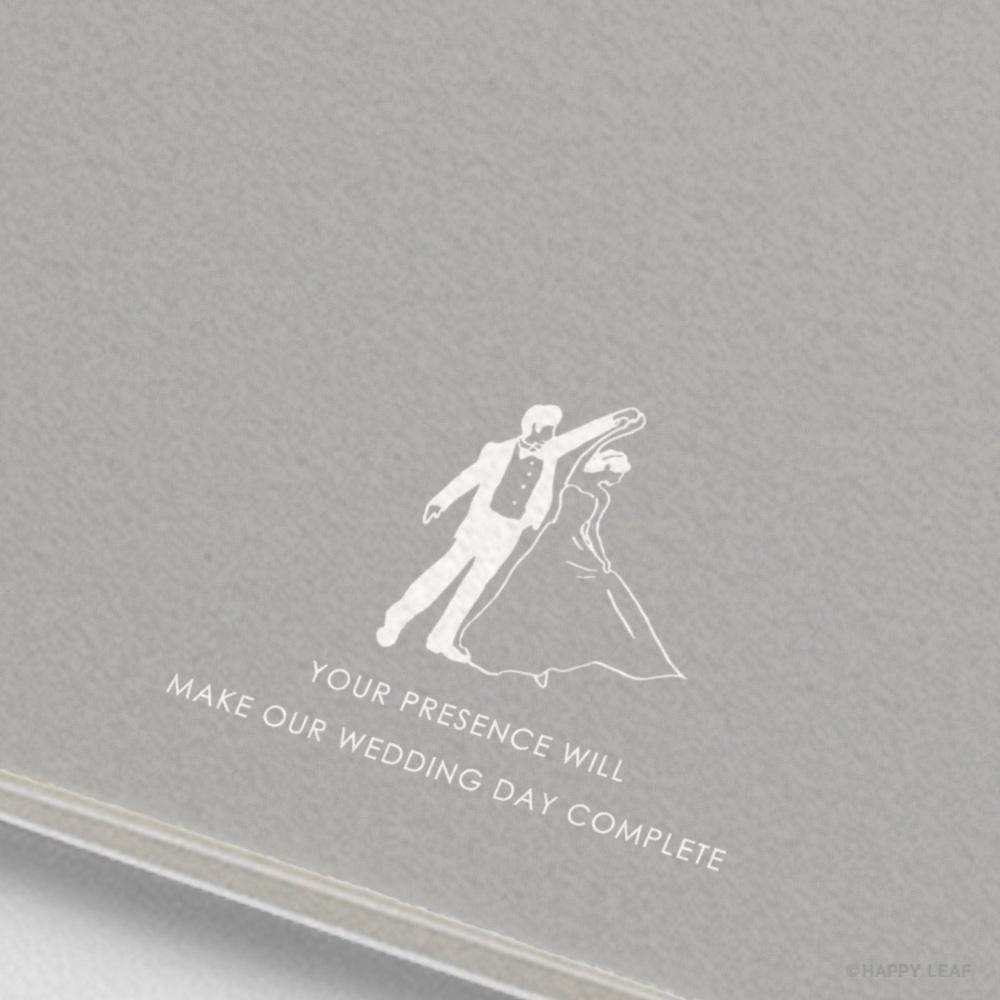 結婚式 招待状 brio グレー 5