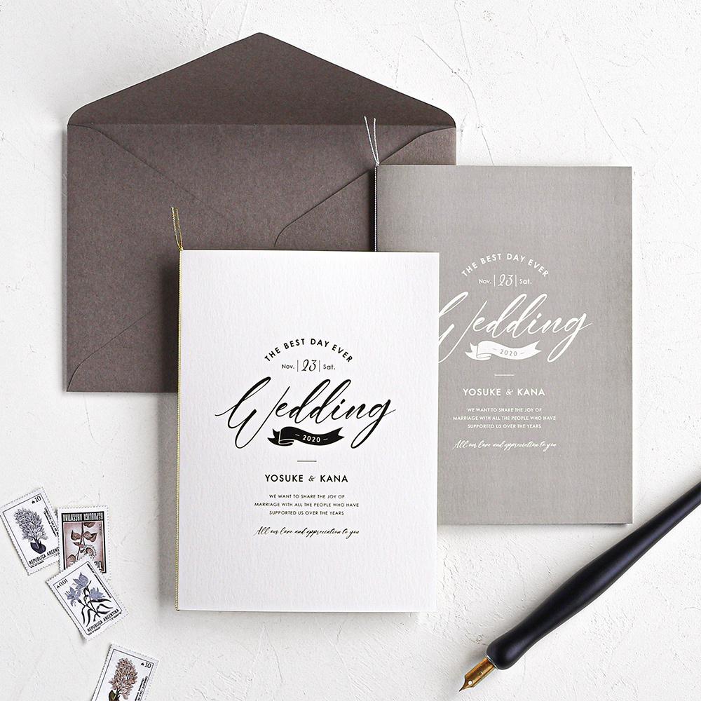 結婚式 招待状 brio ホワイト 1