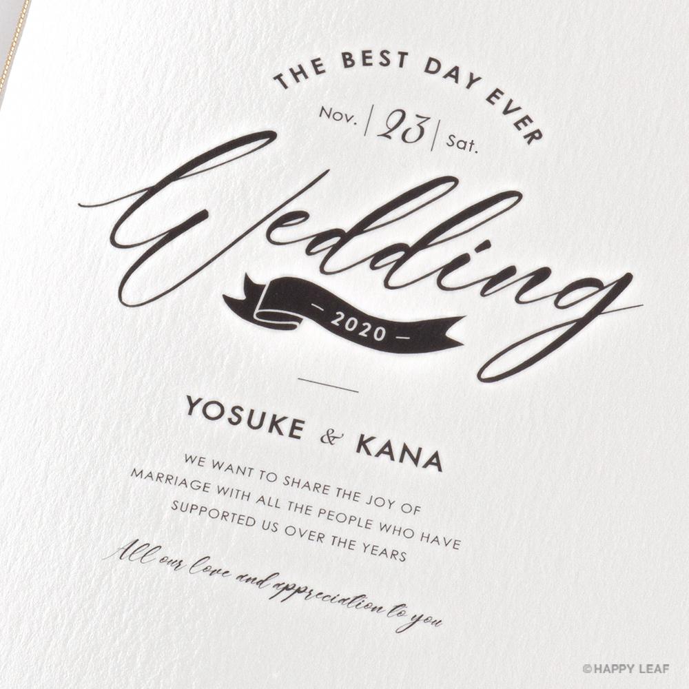 結婚式 招待状 brio ホワイト 3