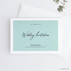 結婚式 招待状 Terrific ミント