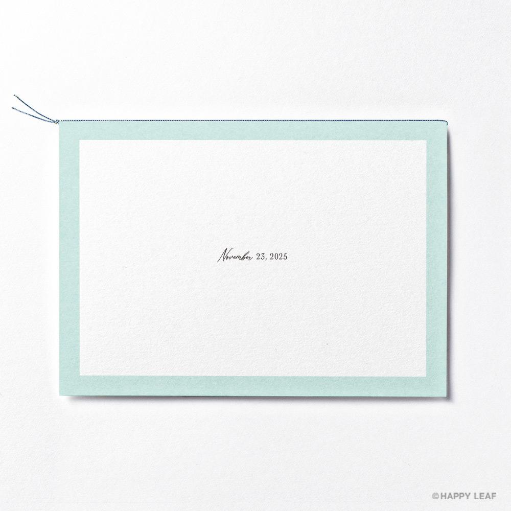 結婚式 招待状 Terrific ミント 4