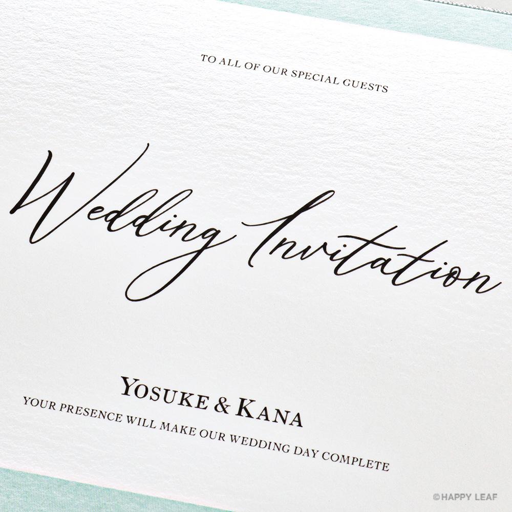 結婚式 招待状 Terrific ホワイト 3